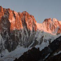Panoramy alpejskie – pod ścianą Jorasses