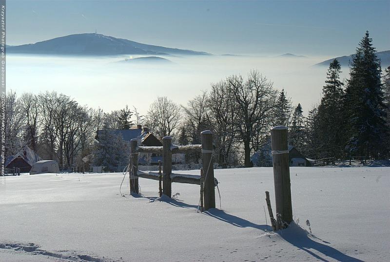 Zima na Magurca koło Bielska-Białej