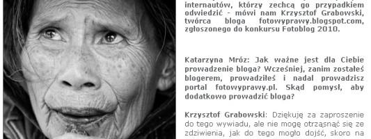 Wywiad w portalu Świat Obrazu