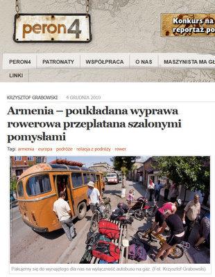 Peron4 – Armenia rowerem