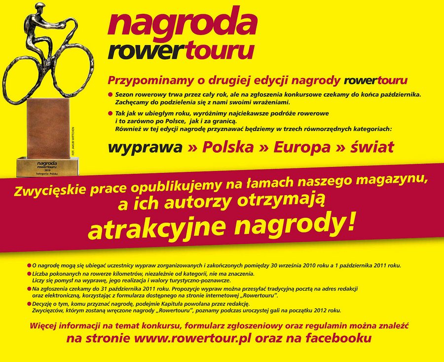 Nagroda Rowertour – Konkurs