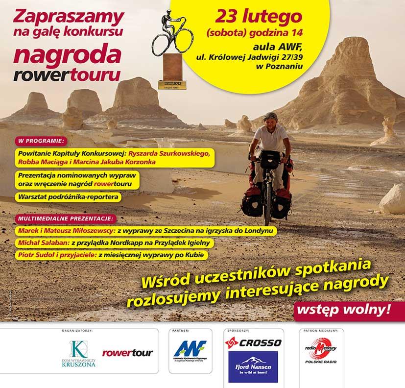 Gala Rowertour – wręczenie nagród w konkursie