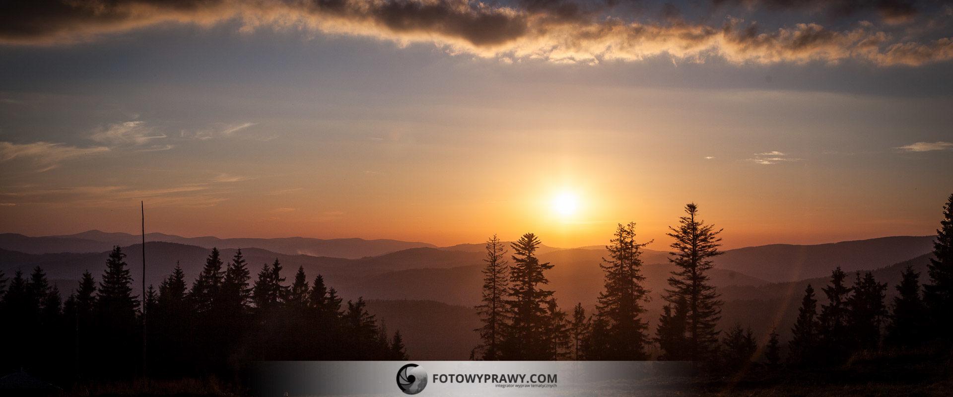 Gdzie na zachód słońca w Beskidach - Krawców Wierch | Fotowyprawy.com