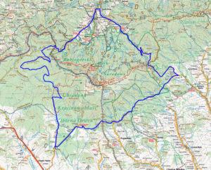 Wokół Babiej Góry na rowerze - mapa