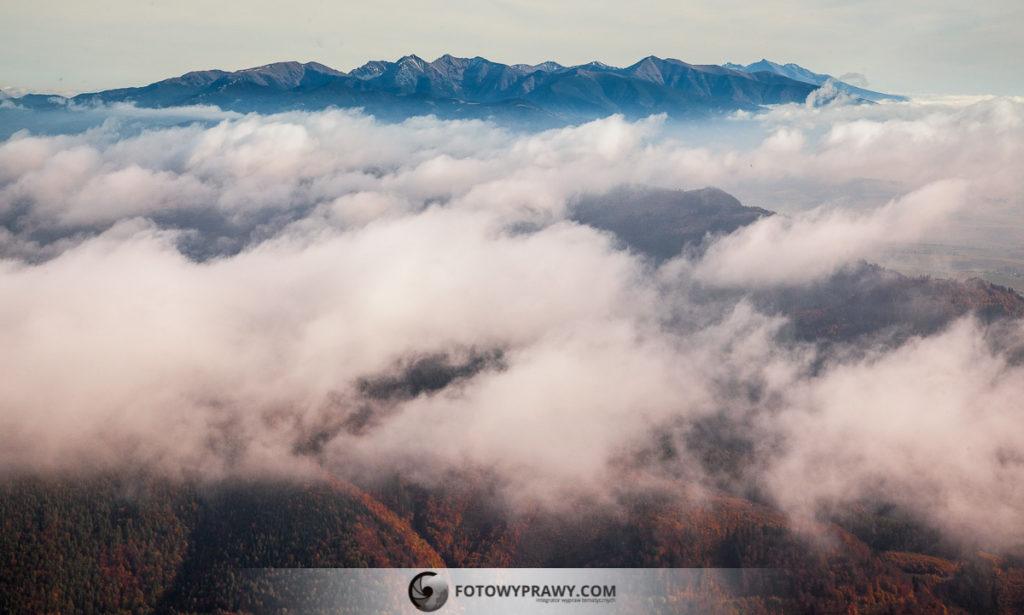 Tatry widziane z Wielkiego Chocza