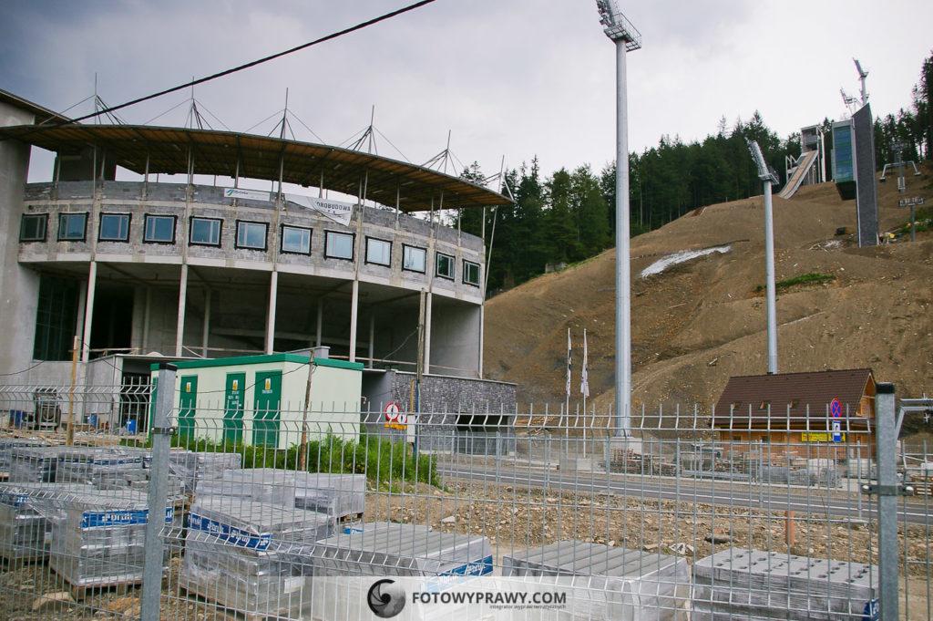 Skocznia im. Adama Małysza w Wiśle w czasie budowy (rok 2007)