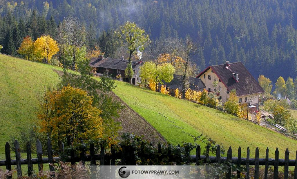 Jesień na grzbiecie Cieńkowa w Wiśle