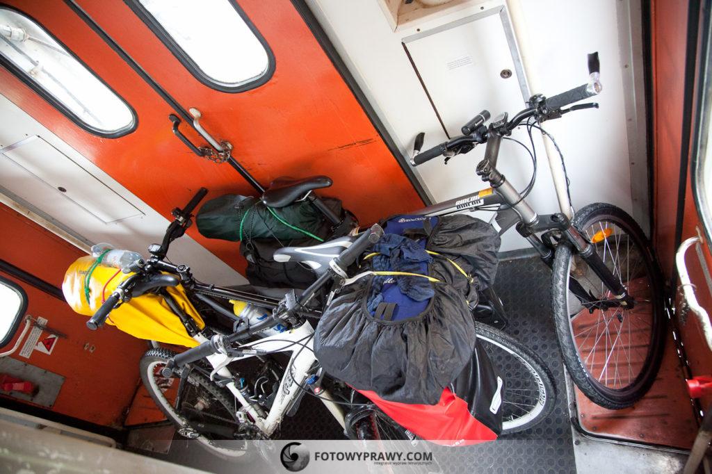 Rowery w serbskim pociągu