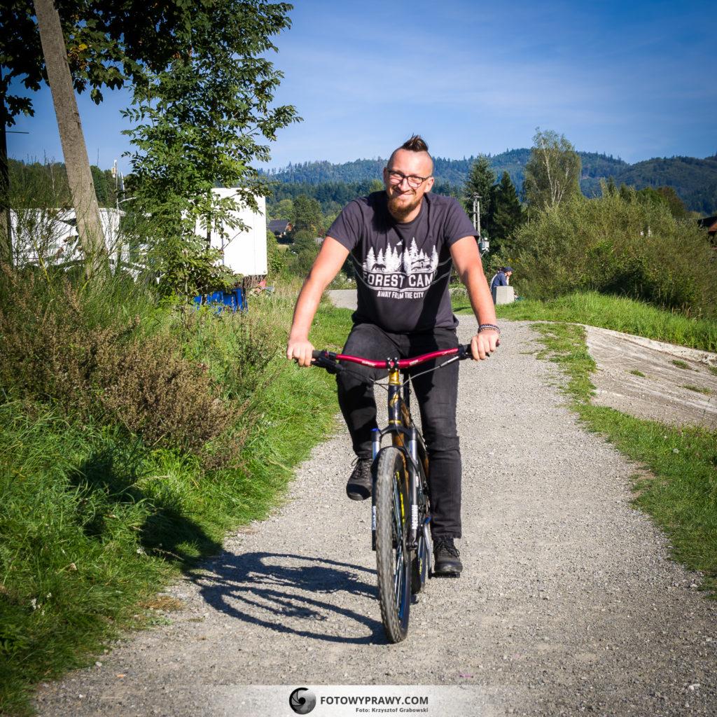 Janek Matuszny na rowerze z bambusa - MTB XC