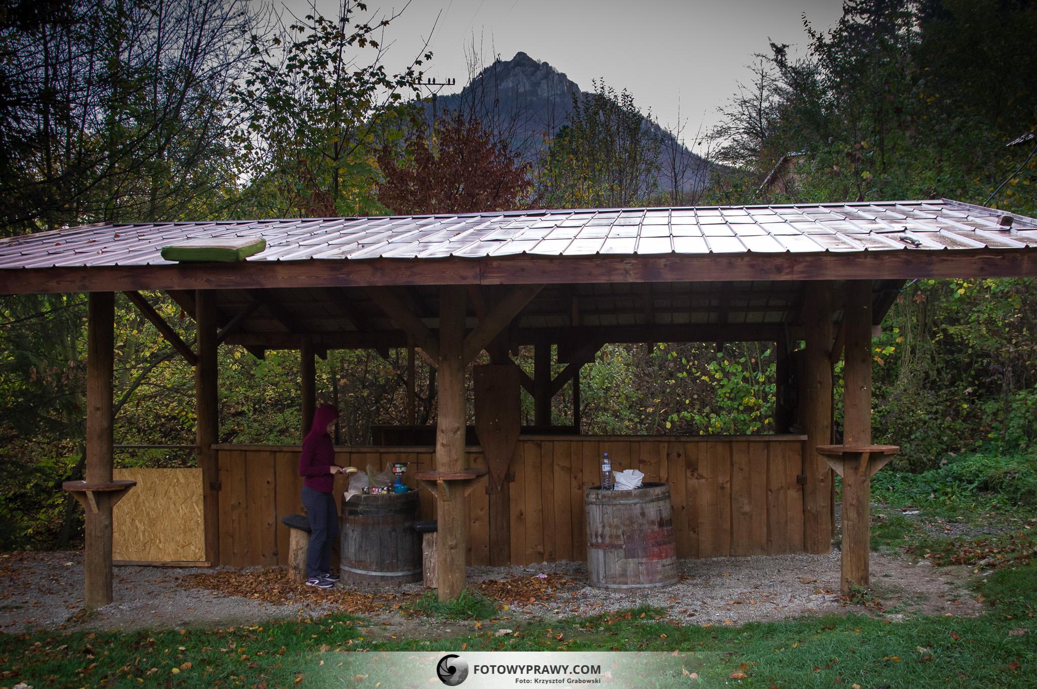 Złota jesień w górach - Góry Strażowskie