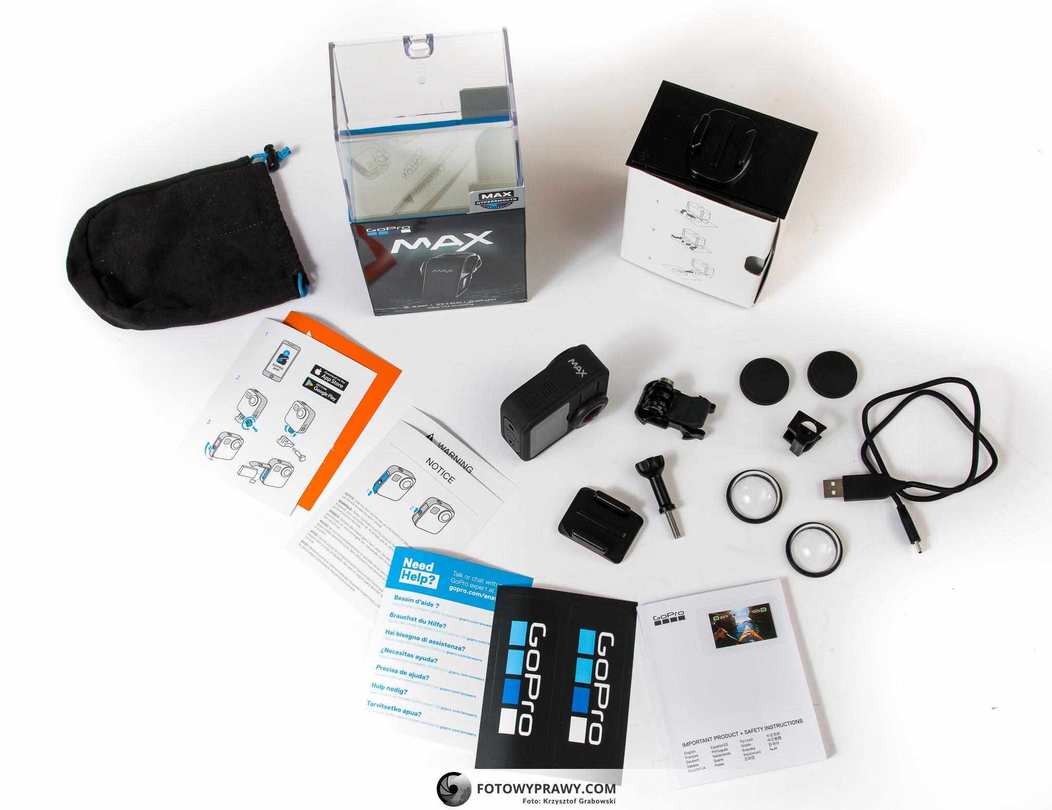 GoPro MAX - najlepsza kamera sportowa. Pełny zestaw.