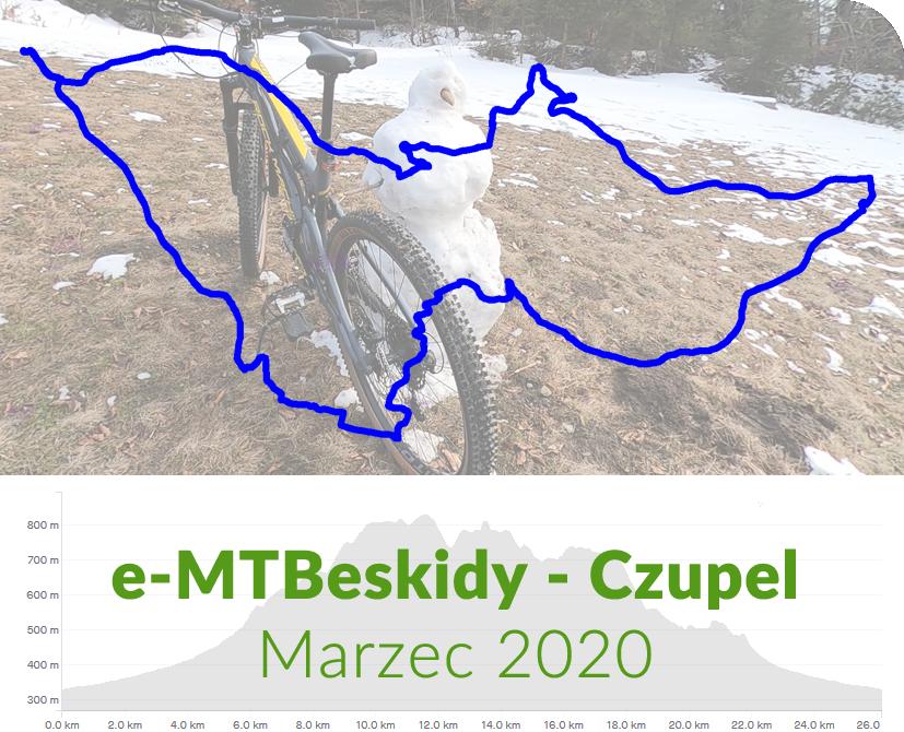POWERower e-MTBeskidy - Czupel marzec 2020