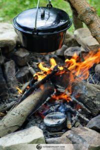 Preparowanie hubiaka pospolitego w wywarze z popiołu